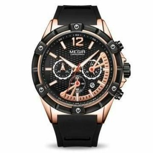 youreleganceshop montre chronographe megir homme
