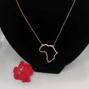 collier femme africa doré