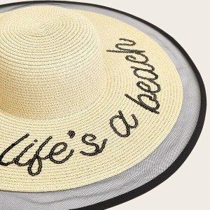 chapeau de plage paille life a beach
