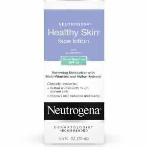 lotion pour visage avec protection solaire neutrogena