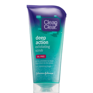 gommage exfoliant visage deep action clean & clear