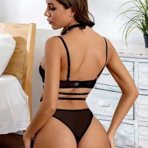 lingerie sexy 4 pieces set mesh ensemble