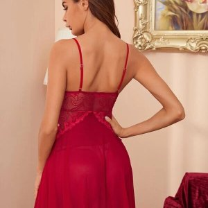 nuisette sexy femme lingerie rouge