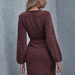 robe femme manches longues avec ceinture
