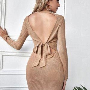robe moulante dos nu sexy femme