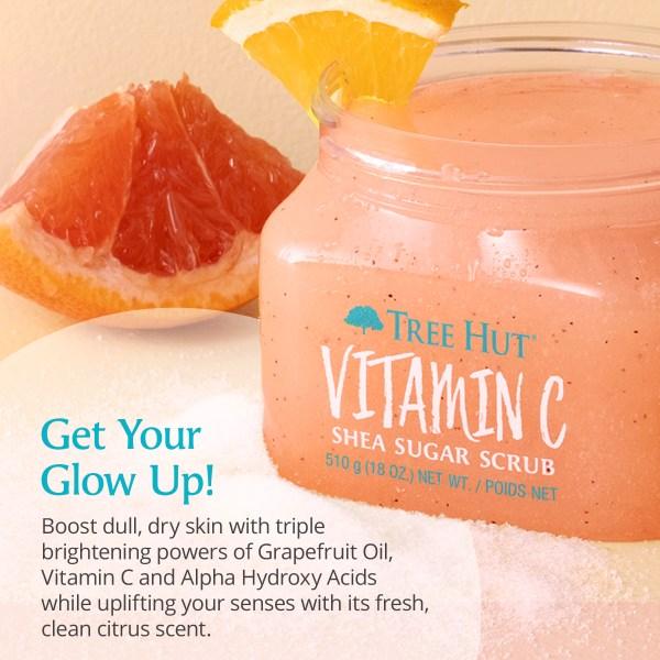 gommage tree hut pour le corps vitamine C