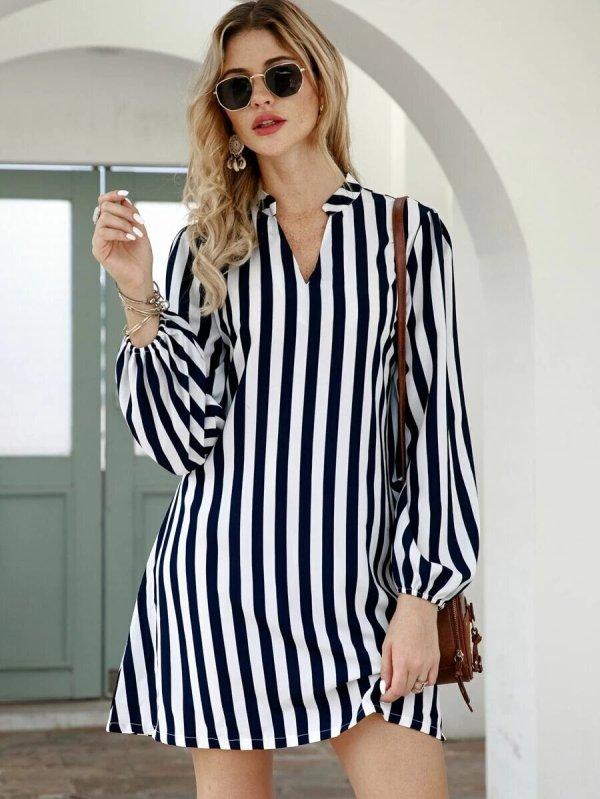 robe courte rayure tendance
