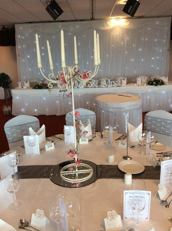 chair cover hire dunfermline black lifetime covers candelabra range enchanted events