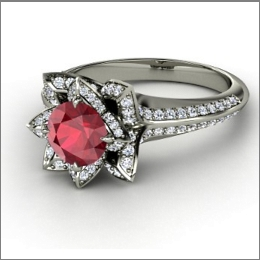 Tis The Season Of Green And Red Engagement Rings