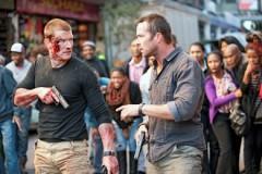 Sullivan Stapleton and Philip Winchester in a scene from last season's finale