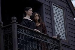 Confidants and close companions, Mary and Tituba observe Salem.