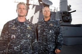 L-R: Eric Dane as CO Tom Chandler and Adam Baldwin as his XO Mike Slattery