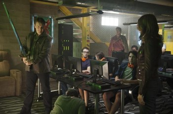 Castle and Beckett find Henry hiding out in an underground gaming den