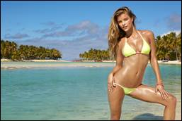"Nina Agdal, Sports Illustrated swimsuit model and ""Beach Week"" host"