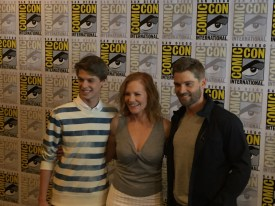 Ford, Helgenberger and Vogel arrive at the CBS Press Room during Comic Con