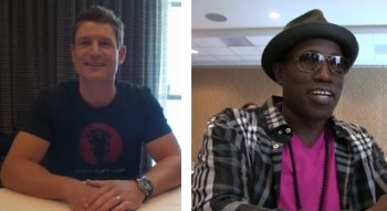 (L-R) Philip Winchester and Wesley Snipes