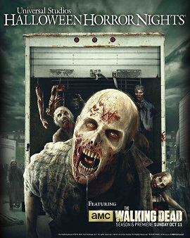 """UNIVERSAL STUDIOS HOLLYWOOD - THEME PARKS -- Pictured: """"The Walking Dead: Wolves Not Far"""" Key Art -- (Photo by: Universal Studios Hollywood)"""