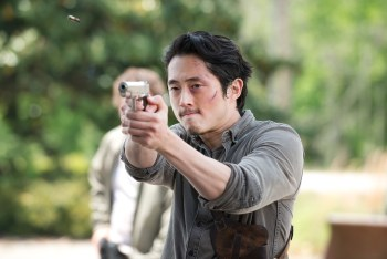 Steven Yeun as Glenn Rhee - The Walking Dead _ Season 6, Episode 1 - Photo Credit: Gene Page/AMC