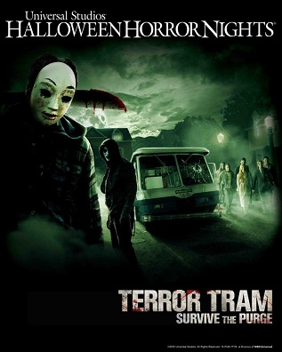 """Pictured: """"Terror Tram: Survive the Purge"""" Key Art -- (Photo by: Universal Studios Hollywood)"""