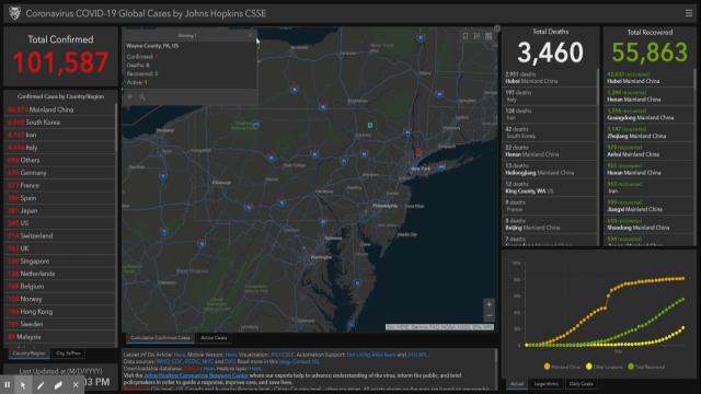 Johns Hopkins University develops coronavirus interactive map ...