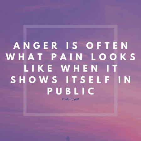 Anger is often what pain looks like when it shows itself in public.""