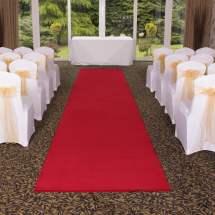 Carpet Aisle Runner Red Hertfordshire Events