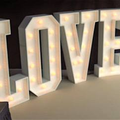 Chair Covers For Hire Parties Buy Edmonton Giant Love | Hertfordshire Events Weddings, Dj, Audio & Pa Hire, Lighting, Photobooth, Stage