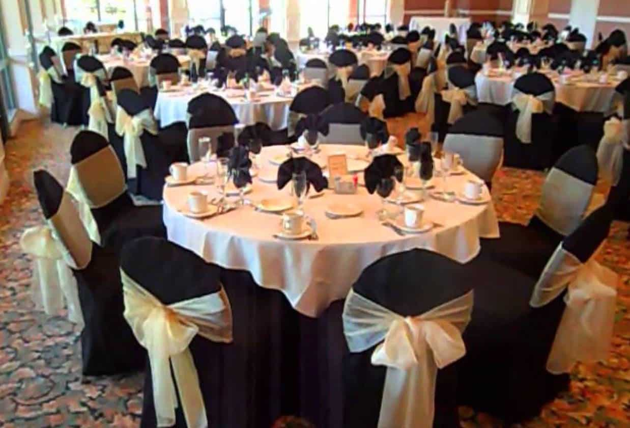 black chair covers to hire craigslist office chairs cover and sash  inc setup hertfordshire