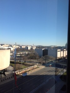 View of Independence Ave., Washington DC. US Capitol Building to the right.