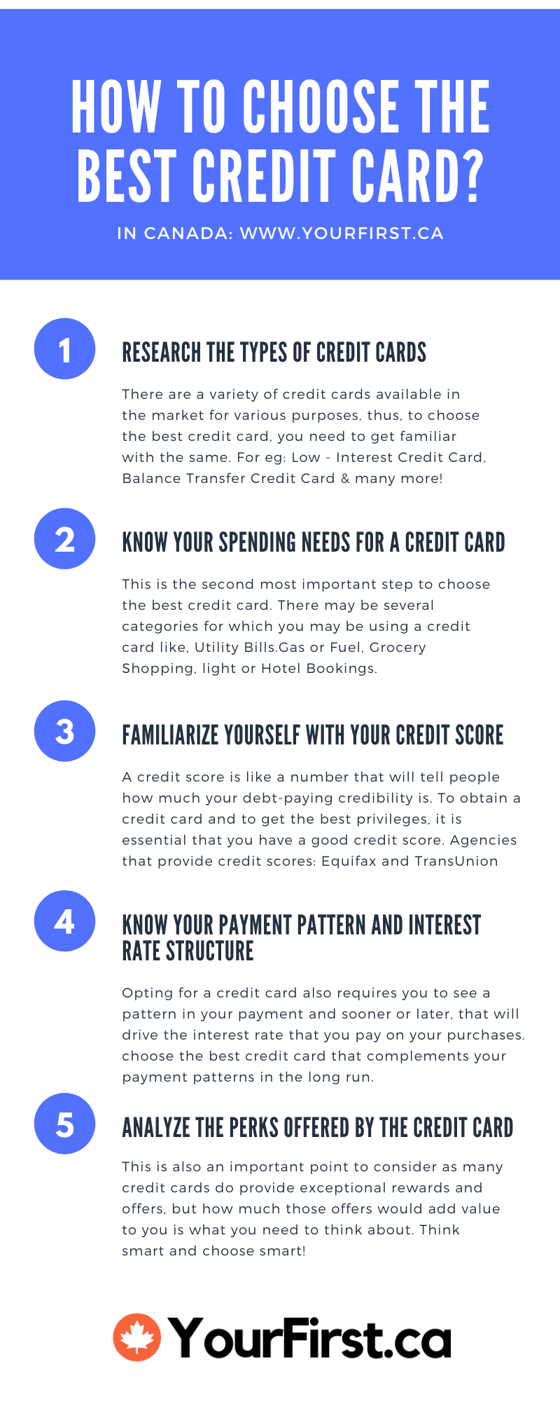 Infographic - How To Choose The Best Credit Card In Canada