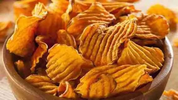 Sweet Potato Chips Crispy