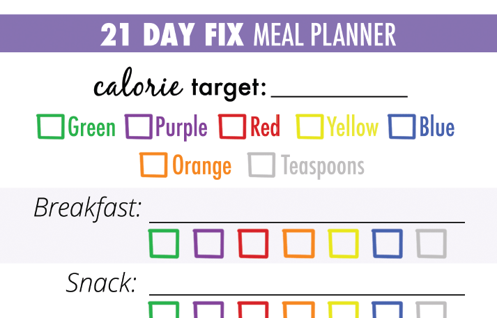 photo regarding 21 Day Fix Printable Sheets titled Totally free Printable 21 Working day Restore Dinner Coming up with Sheets - Resume