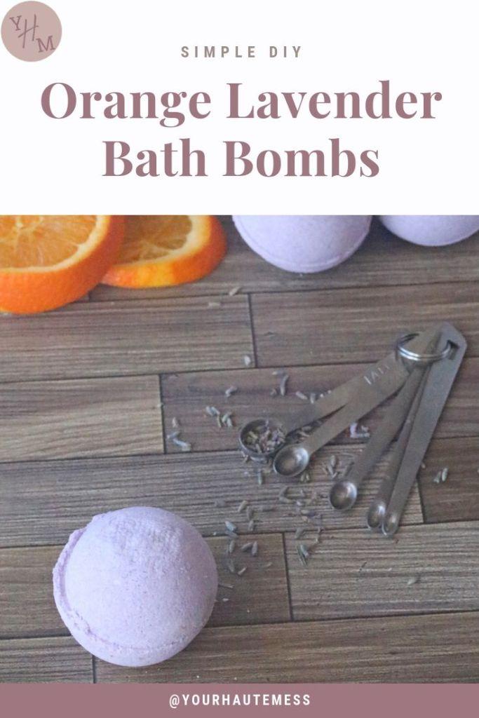 Orange Lavender Bath Bombs