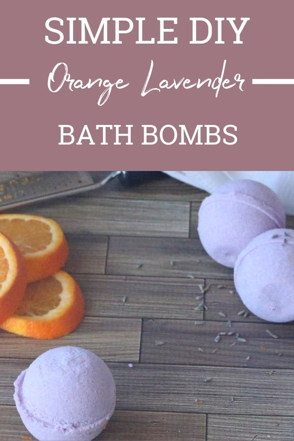 Need a break from your day? These Orange Lavender Bath Bombs are the getaway from your long and stressful day. Pop one in a warm bath and relax!