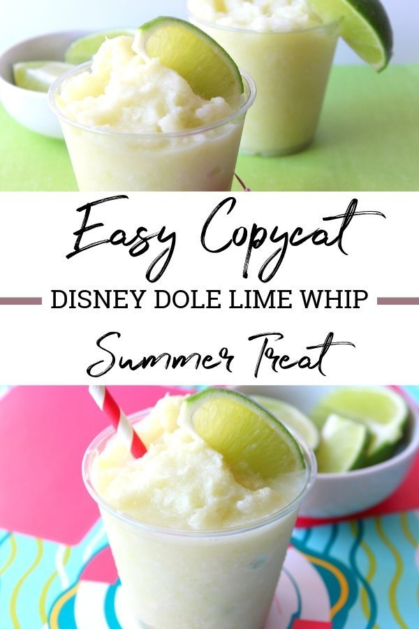 If you're looking for a delicious and fun treat, look no further than this Disney Dole Lime Whip. It's creamy, cold and tasty! #disney #dolewhip #summertreat #copycat