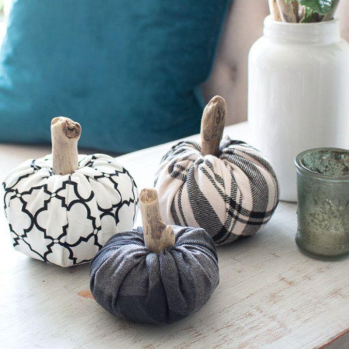 Easy No-Sew DIY Fabric Pumpkins