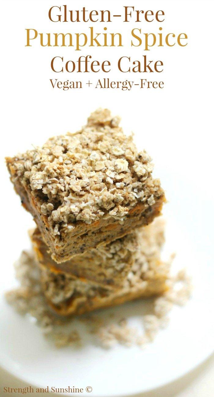Gluten-Free Pumpkin Spice Coffee Cake (Vegan, Allergy-Free)