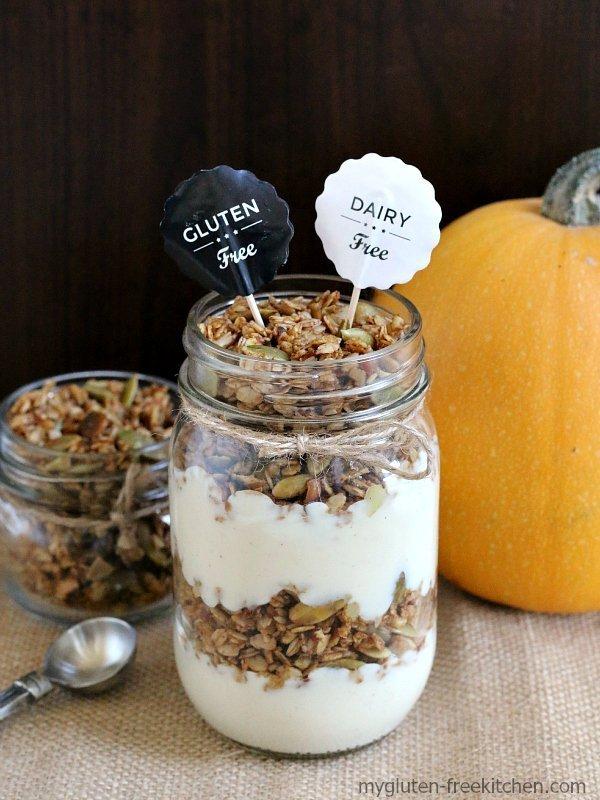 Pumpkin Granola Parfaits {Gluten-free, Dairy-free}