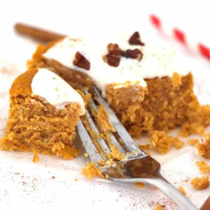 Single Serving Pumpkin Spice Cake (Keto + Vegan + Gluten-Free)