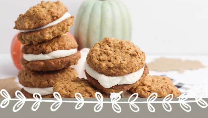 Delicious Gluten Free Pumpkin Cookies with Pumpkin Spice Filling