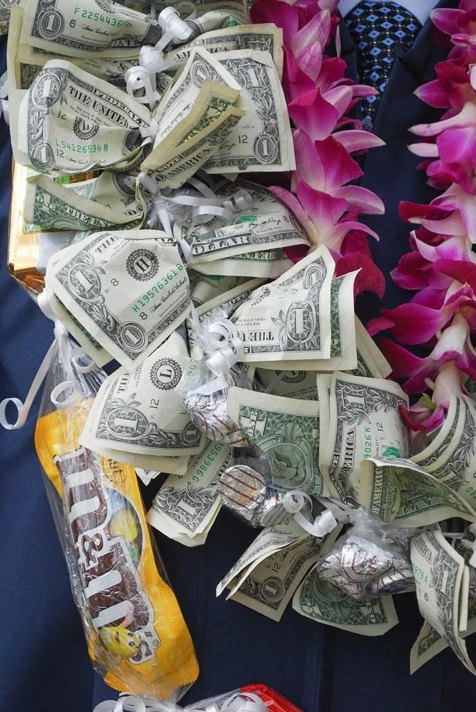 money lei graduation gift