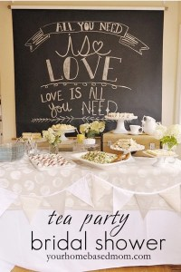 Tea Party Bridal Shower Theme