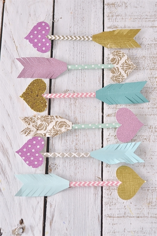 Paper Straw Arrows Dress Up Your Valentine Card Or Gift