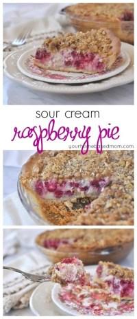Sour Cream Raspberry Pie - your homebased mom