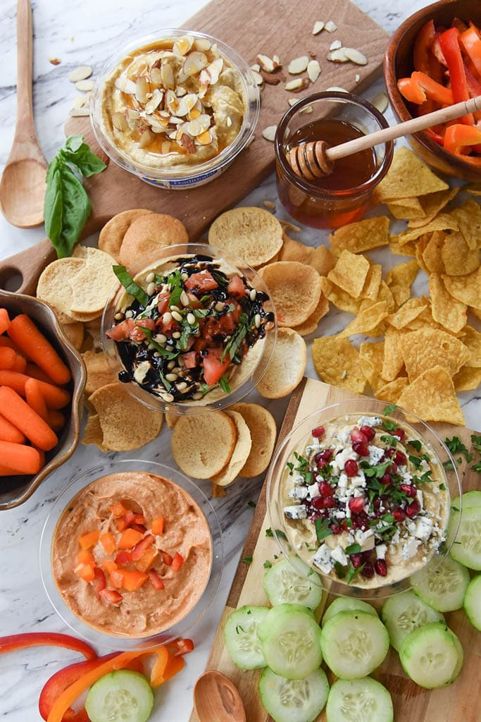 Healthy Snack Ideas with Hummus and more |Your Homebased Mom