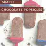 chocolate popsicles on parchment paper