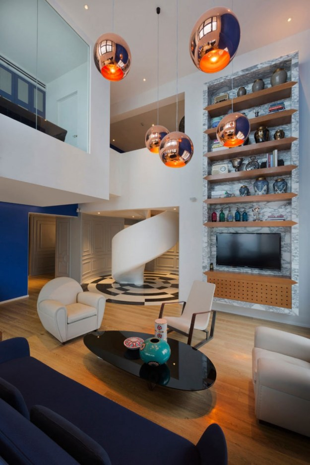 Blue Penthouse designed by Dariel Studio 5