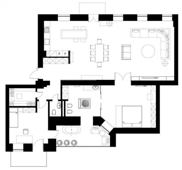 The Podil Loft Apartment designed by Sergey Makhno 20