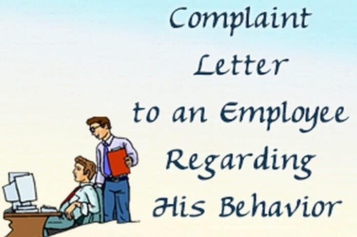 sample letter to employee