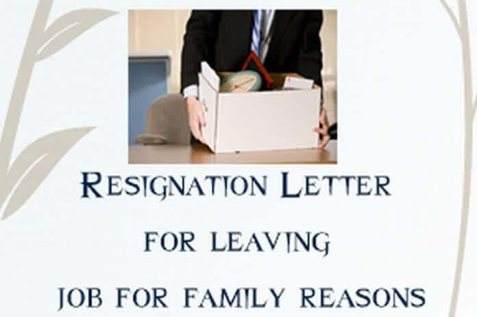 Resignation Letter for Leaving Job for Personal or Family Reasons  HR Letter Formats